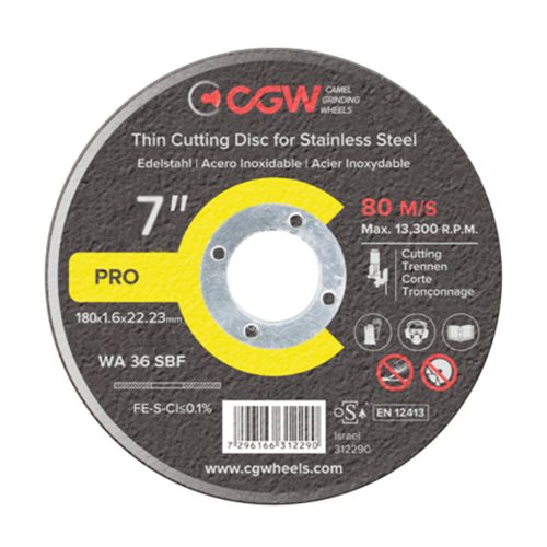 CGW Thin Cut Off Wheel 180 x 1.6 x 22mm