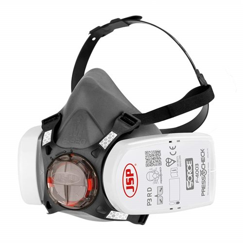 JSP Force 8 Size Medium Half Mask c/w Press to Check P3 Filters