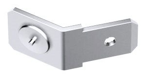 Stainless steel single earthing tag 45 degree