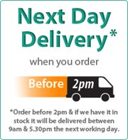 Next day delivery to rest of UK